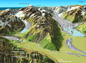 Map of Mount Cook